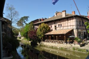 Romantische Winkel in Chatillion-sur-Chalaronne