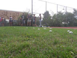 Boule spielen im sportlichen Wettbewerb